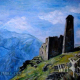 Chechen Painter Aminat's Art Works