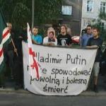 Demonstration Against Putin in Krakow