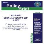 """USCIRF Releases Report on """"Unruly State of Law"""" in Russia"""