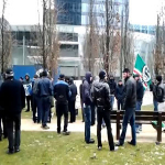 Protest in Belgium against the Extradition of Chechen Asylum Seekers
