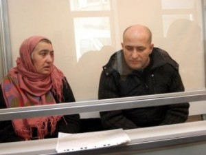 Khadizhat and Malik Gataev, at court, January 13, 2009