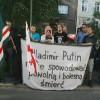 Krakow'da Putin Karşıtı Gösteri