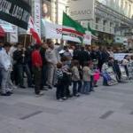 Avusturya'da Kukla Kadirov'un Temsilcilik Planlarına Karşıtı Gösteri