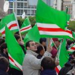 Viyana'da Engelli Çeçen Mülteci için Gösteri