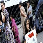 Nimes'teki Çeçen Aileler için Destek Gösterisi